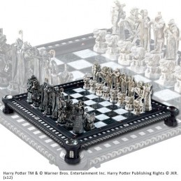 NOBLE COLLECTIONS HARRY POTTER - FINAL CHALLANGE RESIN CHESS SET SCACCHIERA IN RESINA