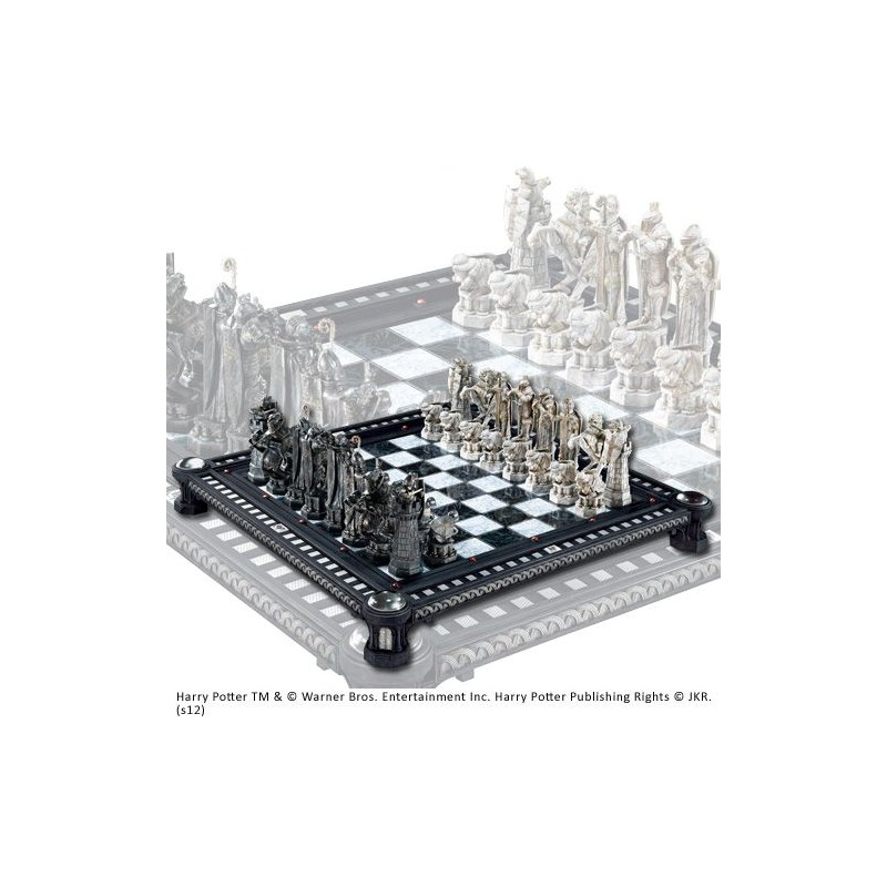 HARRY POTTER - FINAL CHALLANGE RESIN CHESS SET SCACCHIERA IN RESINA NOBLE COLLECTIONS