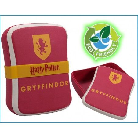 HARRY POTTER GRYFFINDOR BAMBOO SEAL LUNCH BOX PORTAPRANZO IN FIBRA