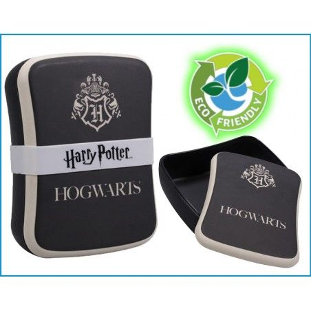 HARRY POTTER HOGWARTS BAMBOO SEAL LUNCH BOX PORTAPRANZO IN FIBRA