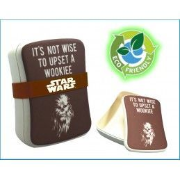 HALF MOON BAY STAR WARS CHEWBACCA BAMBOO SEAL LUNCH BOX PORTAPRANZO IN FIBRA