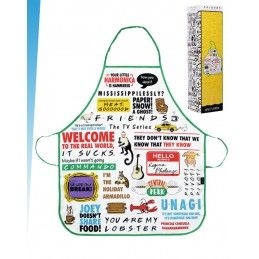 HALF MOON BAY FRIENDS QUOTES APRON GREMBIULE PARANNANZA