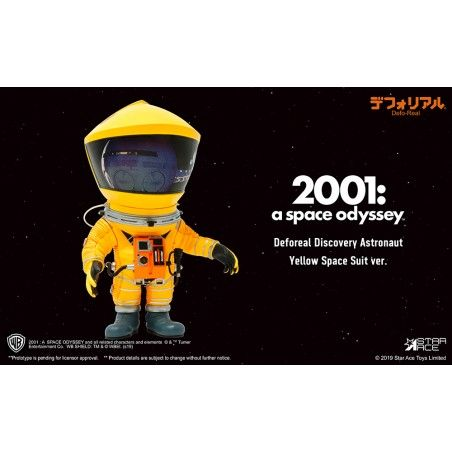 2001 A SPACE ODYSSEY - DEFOREAL DISCOVERY ASTRONAUT YELLOW SPACE SUIT ACTION FIGURE