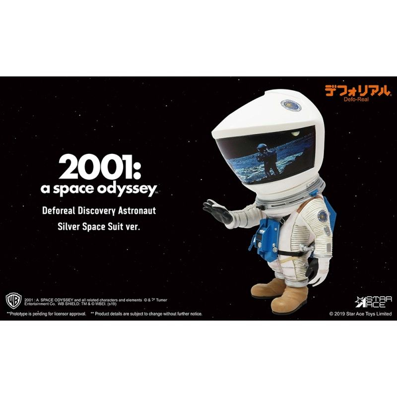 2001 A SPACE ODYSSEY - DEFOREAL DISCOVERY ASTRONAUT SILVER SPACE SUIT ACTION FIGURE STAR ACE