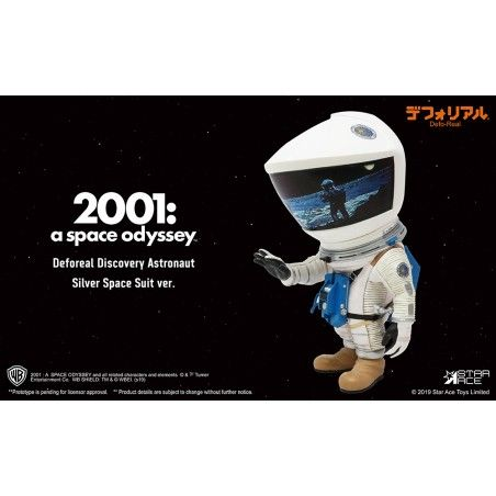2001 A SPACE ODYSSEY - DEFOREAL DISCOVERY ASTRONAUT SILVER SPACE SUIT ACTION FIGURE