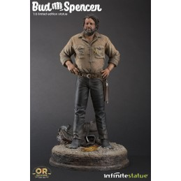 BUD SPENCER STATUE 37 CM 1/6 OLD AND RARE RESIN FIGURE INFINITE STATUE
