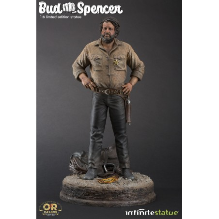 BUD SPENCER STATUE 37 CM 1/6 OLD AND RARE RESIN FIGURE