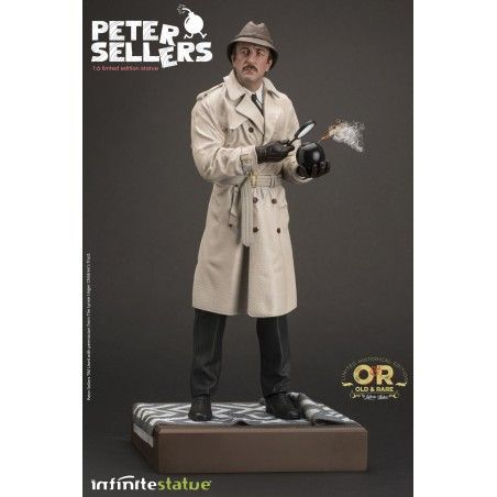 JACQUES CLOUSEAU PETER SELLERS STATUE 32 CM 1/6 OLD AND RARE RESIN FIGURE