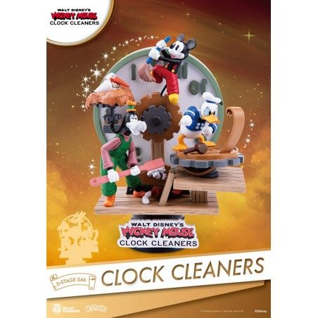 MICKEY MOUSE CLOCK CLEANERS D-STAGE 046 STATUE FIGURE DIORAMA