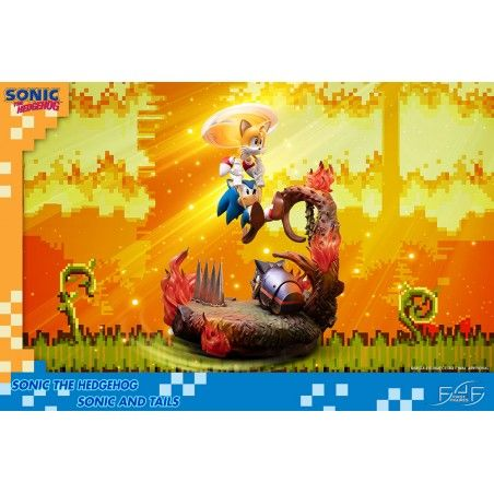 SONIC THE HEDGEHOG - SONIC AND TAILS STATUE 50 CM RESIN FIGURE DIORAMA