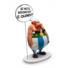 ASTERIX - OBELIX COMICS SPEECH ITALIANO 22CM RESIN FIGURE STATUE PLASTOY