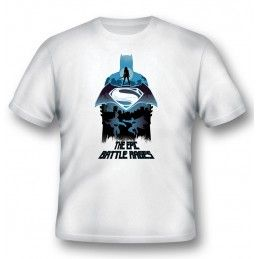 2BNERD MAGLIA T SHIRT BATMAN V SUPERMAN EPIC BATTLE RAGES
