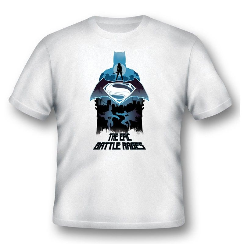 MAGLIA T SHIRT BATMAN V SUPERMAN EPIC BATTLE RAGES 2BNERD