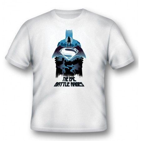 MAGLIA T SHIRT BATMAN V SUPERMAN EPIC BATTLE RAGES