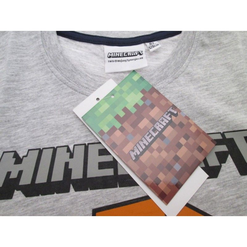MAGLIA T SHIRT MINECRAFT CREEPER FACE BLUE NAVY
