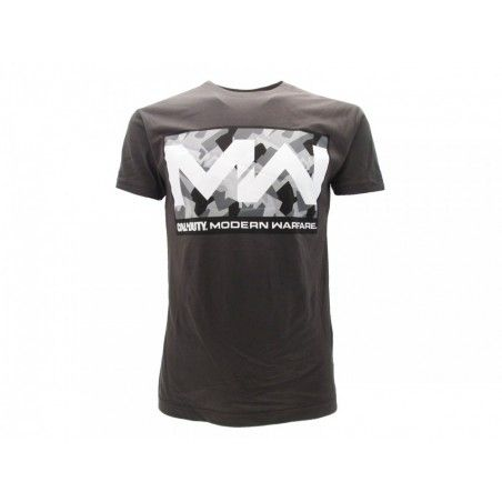 MAGLIA T SHIRT CALL OF DUTY MODERN WARFARE LOGO GRIGIA