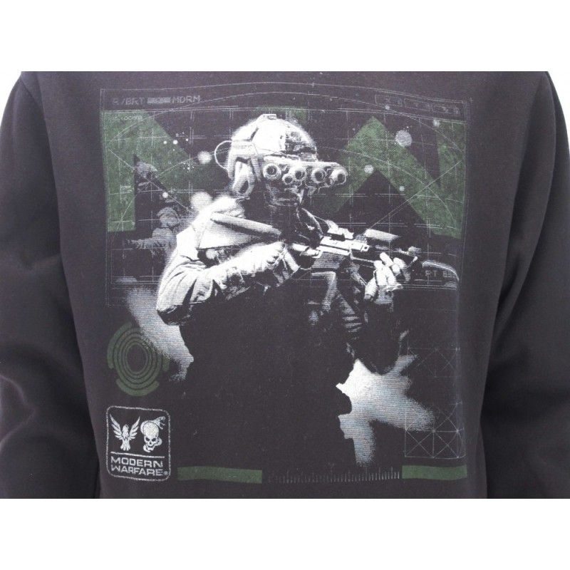 FELPA HOODIE CALL OF DUTY MODERN WARFARE SOLDIER NERA