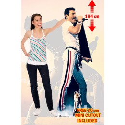 QUEEN FREDDIE MERCURY 1982 LIFESIZED 184 CM CUTOUT SAGOMATO STAR