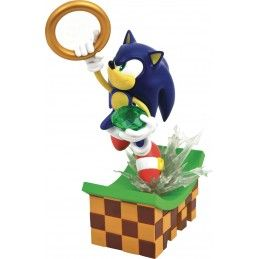 SONIC THE HEDGEHOG GALLERY - SONIC STATUE 23CM FIGURE DIAMOND SELECT