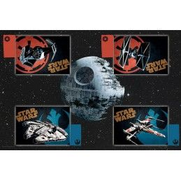 STAR WARS DEATH STAR TABLE CLOTH SET COMPLETO DA TAVOLA MORTE NERA SD TOYS