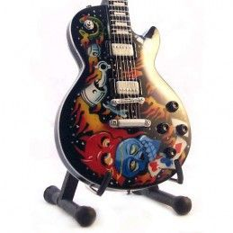 MINI GUITAR METALLICA JAMES HETFIELD KULTU MINI REPLICA IN LEGNO MUSIC LEGENDS COLLECTION
