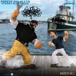 POPEYE AND BLUTO STORMY SEA AHEAD - BRACCIO DI FERRO E BRUTO CLOTH ONE:12 SET ACTION FIGURES MEZCO TOYS