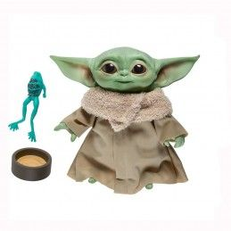 STAR WARS THE MANDALORIAN - THE CHILD BABY YODA TALKING PELUCHE PLUSH 19 CM HASBRO