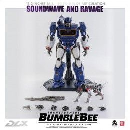 TRANSFORMERS BUMBLEBEE - SOUNDWAVE AND RAVAGE DLX SCALE COLLECTIBLE ACTION FIGURE 28CM THREEZERO