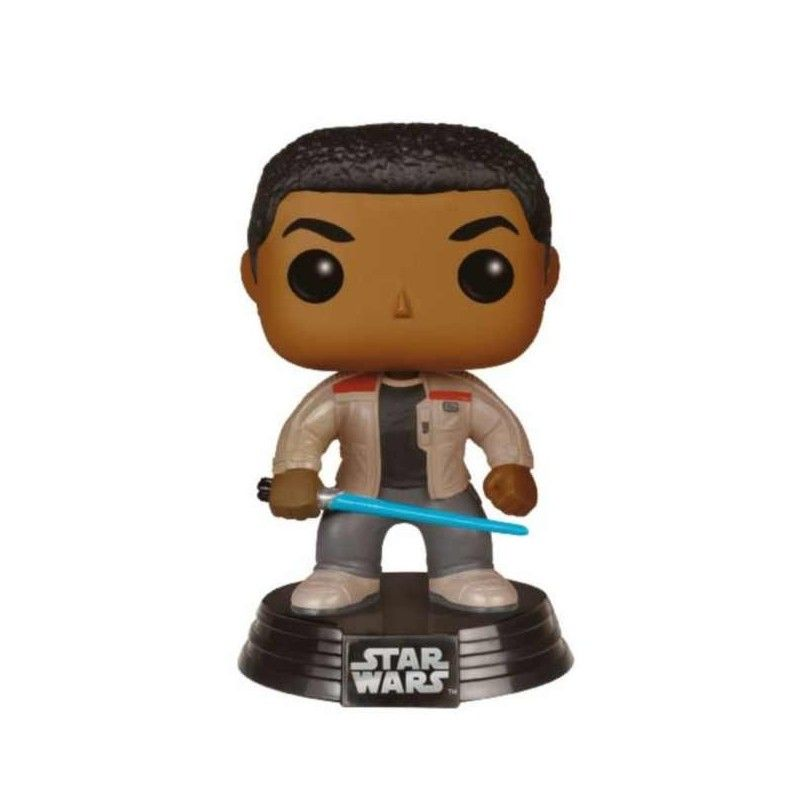 FUNKO POP STAR WARS - FINN WITH LIGHTSABER BOBBLE HEAD KNOCKER FIGURE FUNKO