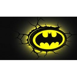3D LIGHT FX DC COMICS BATMAN LOGO 3D DECO LIGHT LAMPADA DA MURO