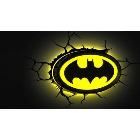 DC COMICS BATMAN LOGO 3D DECO LIGHT LAMPADA DA MURO