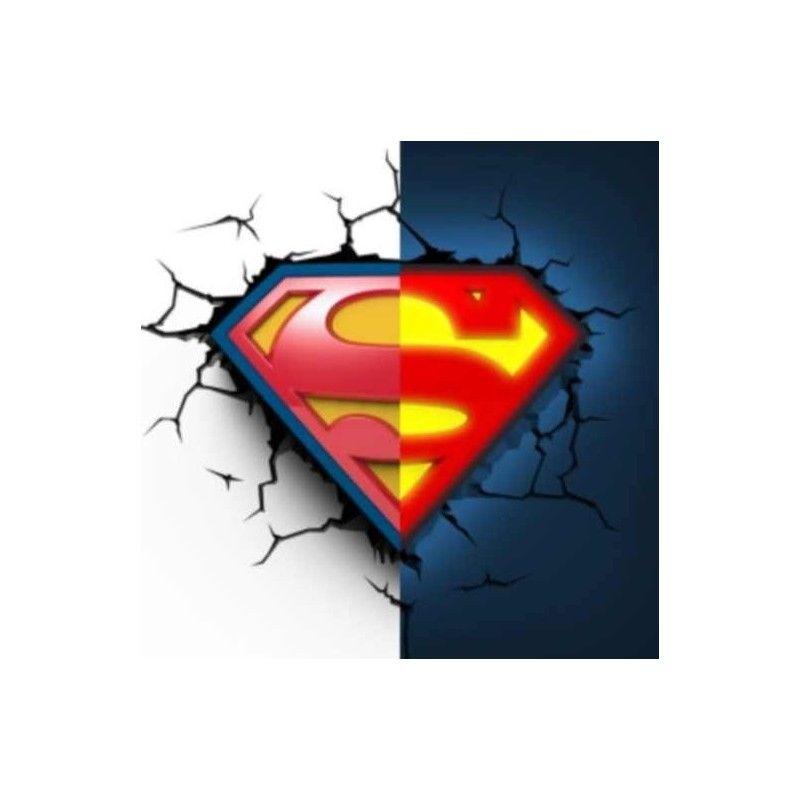 DC COMICS SUPERMAN LOGO 3D DECO LIGHT LAMPADA DA MURO 3D LIGHT FX