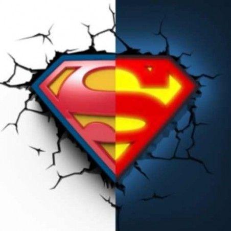 DC COMICS SUPERMAN LOGO 3D DECO LIGHT LAMPADA DA MURO