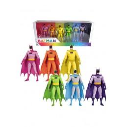 DC COMICS RAINBOW BATMAN 6-PACK ACTION FIGURE DC COLLECTIBLES