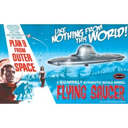 POLAR LIGHTS PLAN 9 FROM OUTER SPACE - FLYING SAUCER 1/48 MODEL KIT 30CM FIGURE