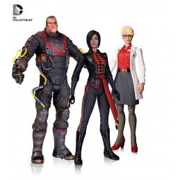 DC COLLECTIBLES BATMAN ARKHAM ORIGINS HARLEEN QUINZEL ELECTROCUTIONER LADY SHIVA 3-PACK FIGURE