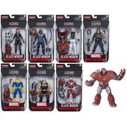 MARVEL LEGENDS SERIES BLACK WIDOW SET CRIMSON DYNAMO - SET COMPLETO 7X ACTION FIGURE HASBRO