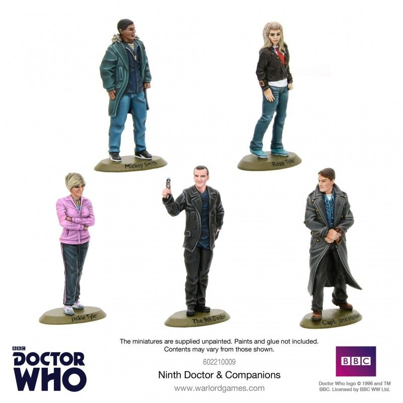 DOCTOR WHO 9TH DOCTOR AND COMPANIONS MINIATURES SET FIGURE