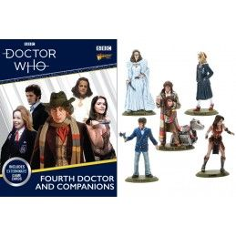 DOCTOR WHO 4TH DOCTOR AND COMPANIONS MINIATURES SET FIGURE