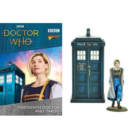 DOCTOR WHO 13TH DOCTOR AND TARDIS MINIATURES SET FIGURE