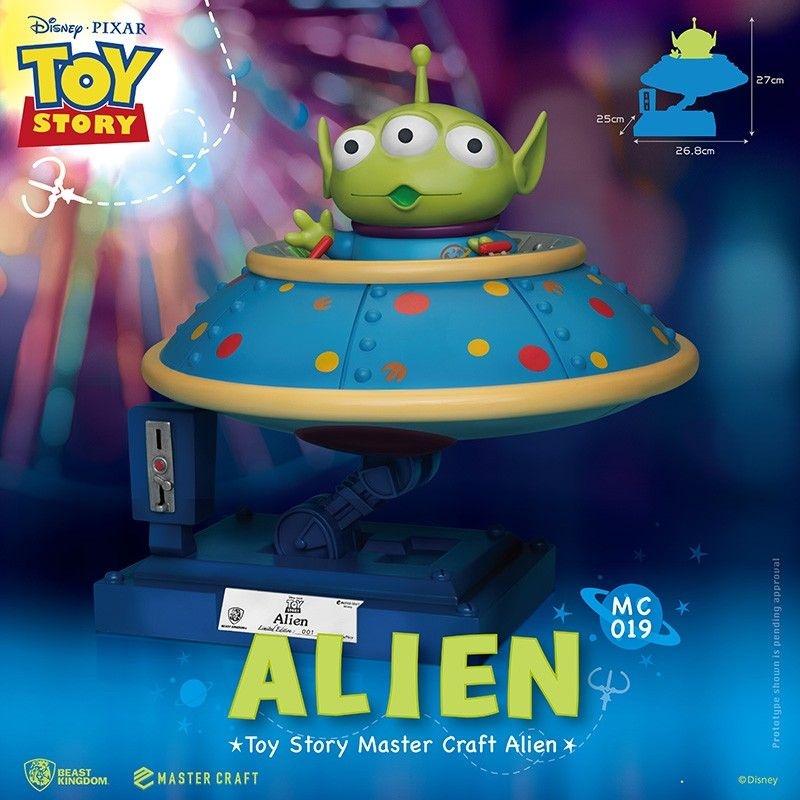 BEAST KINGDOM TOY STORY MASTER CRAFT ALIEN STATUE RESIN FIGURE 25CM