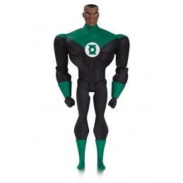 JUSTICE LEAGUE ANIMATED GREEN LANTERN JOHN STEWART ACTION FIGURE DC COLLECTIBLES