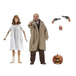 HALLOWEEN 2 - DR LOOMIS AND LAURIE STRODE CLOTHED ACTION FIGURE NECA