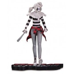 HARLEY QUINN RED WHITE AND BLACK BY STEVE PUGH STATUE RESIN 18CM FIGURE DC COLLECTIBLES
