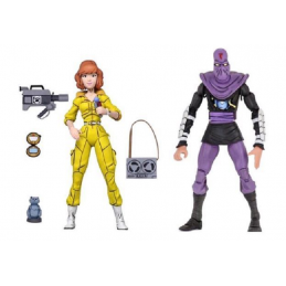 TMNT TEENAGE MUTANT NINJA TURTLES - APRIL O'NEIL AND FOOT SOLDIER 2-PACK ACTION FIGURE NECA