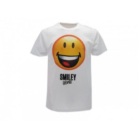 MAGLIA T SHIRT SMILEY WORLD ORIGINAL BIANCA
