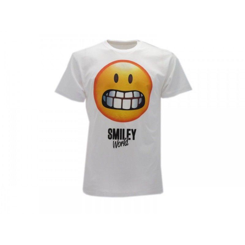 MAGLIA T SHIRT SMILEY WORLD GHIGNO BIANCA