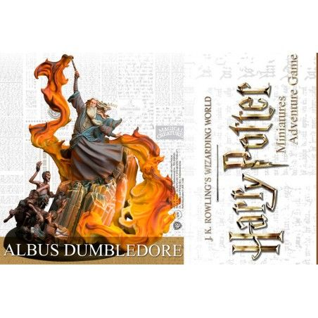 HARRY POTTER MINIATURES ADVENTURE GAME - ALBUS DUMBLEDORE SILENTE MINI RESIN STATUE FIGURE