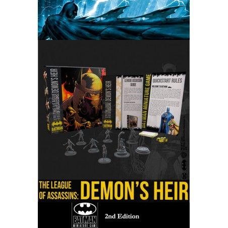 BATMAN MINIATURE GAME - THE LEAGUE OF ASSASSINS DEMON'S HEIR MINI RESIN STATUE FIGURE