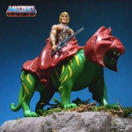 MASTERS OF THE UNIVERSE RE-ACTION HE-MAN AND BATTLE CAT 2-PACK ACTION FIGURE SUPER7